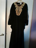 abaya 2 pièces taille moyenne ou large