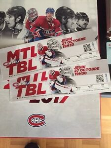 Tampa bay lightning vs Montreal Canadiens tickets