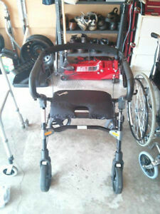 Wheelchair, walker and aid