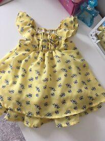 yellow flowery dress