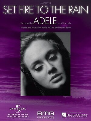 Set Fire to the Rain  Easy Piano Sheet Music Adele NEW (Set Fire To The Rain Sheet Music)