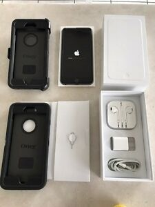 iPhone 6 + plus Bell 128 GB space grey  10/10 shape