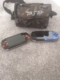 2 PSP 1000 16 GAMES AND 6 FILMS