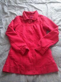 Animal pink spotty coat size 8