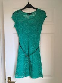 New Look lace mint green dress size 10