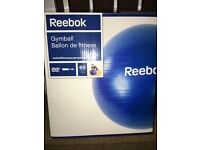 Reebok gymball with DVD and repair kit