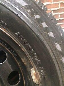 """Bridgestone Blizzak Winter Tires on Rims (15"""") West Island Greater Montréal image 4"""