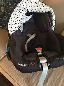 Maxi cosi car seat and stroller