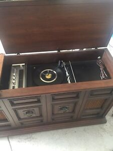 Old record player and radio