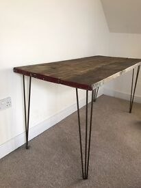 Reclaimed wood office table