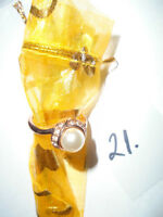 Ring 18K Yellow Gold Filled Women Freshwater Pearl   10$