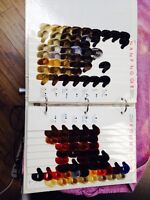 Older Goldwell color chart book