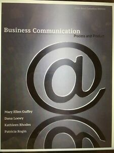 Business communication process and product 5th Canadian edition Windsor Region Ontario image 1