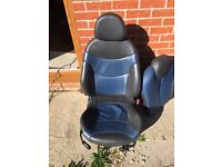 BMW Mini Cooper s R53 seats, black and blue leather