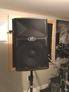 "Peavey mixing board and 800watt 12"" powered PA speaker w/stand"