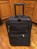 """Luggage - small 22"""" tall 2 wheel carry on suitcase A1 condition"""