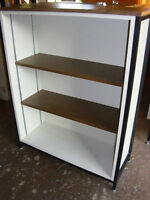Metal Frame Bookcases.