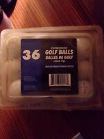 36 experienced Golf Balls. $ 20