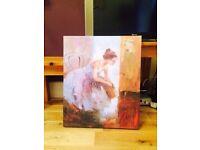 Ballerina block mounted canvas