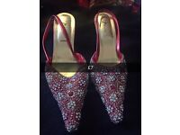 Wedding pointed red sandals