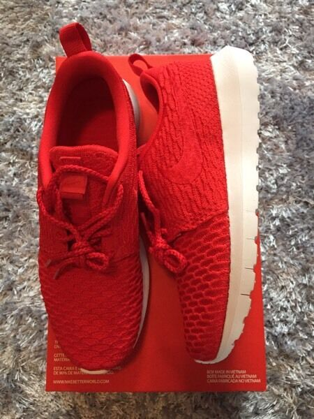 ubhoz Nike Roshe NM Flyknit Original Red size 5.5 EUR 38.5 | in East