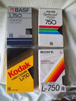 53 - Beta Tapes - 750 - Video Cassettes