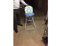 Boys Baby High Chair