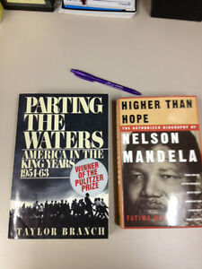 Nelson Mandela and Reverand King Jr Bios