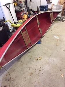 14' fibreglass canoe