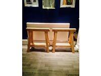 2 adjustable work bench / table support legs BARGING