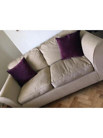 Marks and Spencer beige fabric 3 piece suite