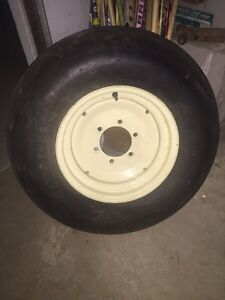 "16"" farm wagon rim and tire"