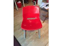 4 plastic Ikea chairs