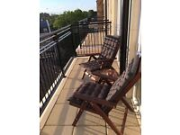 Ikea Applaro outdoor reclining chairs and table