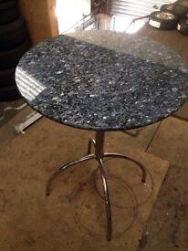 Grey granite worktop bar table very heavy good quality stone top