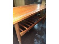 Decorative carved pattern top coffee table REDUCED