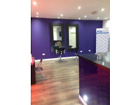 Very Large Beauty Room and Open plan space for makeup artists / hairdressers to rent Glasgow G1