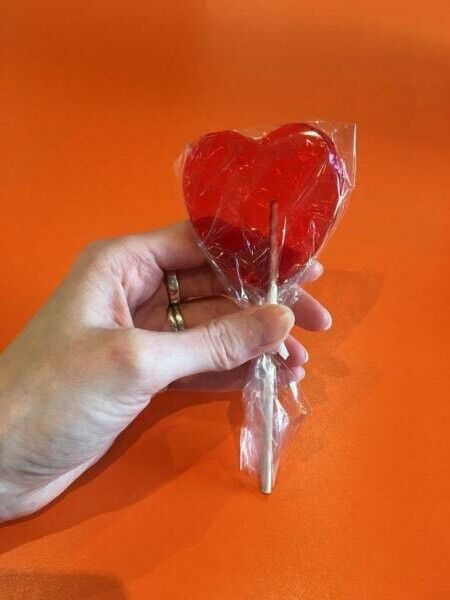X49 Love Heart Lollipops Wedding Favors Or Party Bag Fillers In St