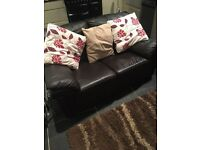 2 seater sofa leather
