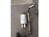 Mk4 golf twin stainless steel exhaust