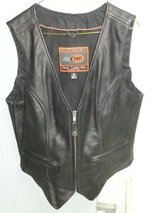 Ladies Leather Motorcycle Vest