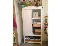 White/neutral Nursery Wardrobe and Changing Table