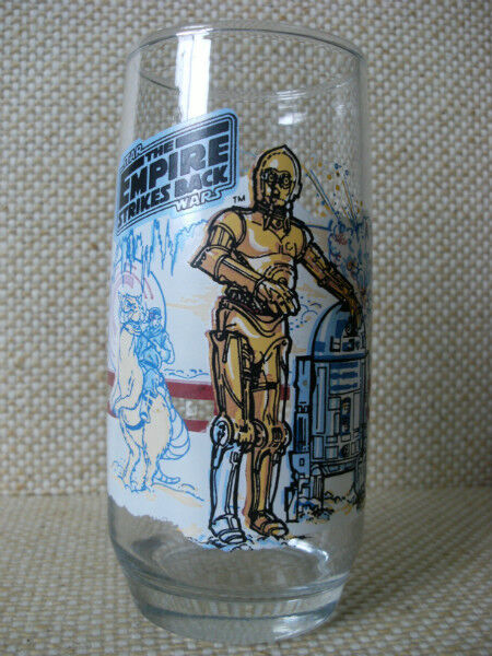 1980 Burger King Promo Glass Star Wars The Empire
