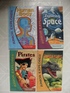 Junior Explorer Books: Body / Space / Pirates / Dinosaurs