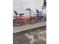 Raleigh chopper bikes