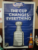 Bud Light NHL Stanley Cup Banner Very Large Mint!