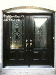 Glass Entrance Stained Door Entry  modern or traditional Design