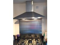 Electrolux cooker hood & stainless steel splash back