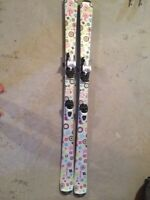 Girl's Skis, Boots, and Poles