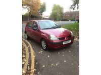 2002 RENAULT CLIO 1.2L PETROL FOR SALE LOW MILEAGE CHEAP TO RUN AND INSURE